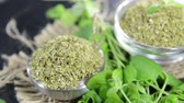 food and drink : Dried Oregano (loopable) Stock Footage