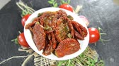 przetwory : Sun dried Tomatoes as not loopable full HD video Wideo