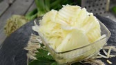freshness : Homemade Celeriac Salad in a bowl (not loopable full HD video) Stock Footage