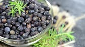 ingredient : Portion of dried Juniper Berries (not loopable) Stock Footage
