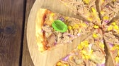 cheese piece : Fresh Tuna Pizza made (seamless loopable)