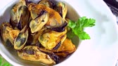 preserved : Preserved Mussels (seamless loopable) Stock Footage