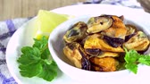steamed : Rotating Mussels (not seamless loopable 4K UHD footage)