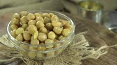 preserved : Portion of preserved Chick Peas seamless loopable 4K UHD footage