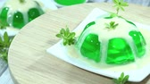 flavour : Woodruff Jelly with Vanilla sauce not loopable  Stock Footage