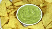 4k : Nachos with Guacamole seamless loopable  Stock Footage