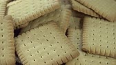 cracker : Butter Biscuits not loopable Stock Footage