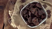 flavour : Heap of rotating Kola Nuts seamless loopable 4K footage Stock Footage