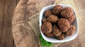 quibe : Portion of Meatballs as not loopable 4K UHD footage