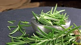 herb : Heap of fresh Rosemary as not loopable 4K UHD footage Stock Footage