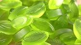 Rotating Lime Jelly as detailed 4K UHD footage (seamless loopable) Stock Footage