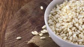 Puffed Rice (not loopable; 4K) Stock Footage