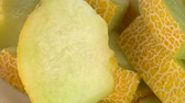 keser : Honeydew Melon as detailed 4K UHD footage (seamless loopable) Stok Video