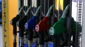 diesel : Petrol filling guns Stock Footage