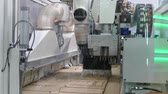 folding machine : Large machine-moving part Stock Footage