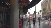 celebridade : Hollywood Boulevard. Famous Hollywood Walk of Fame at Morning. Atmosphere, Architecture, Tourists Walking on the stars. Hollywood, California, USA, May 14, 2019