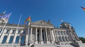 parlamento : Edificio Reichstag, Berlino Germania Filmati Stock