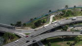 panama city : Street traffic from above, cars on highway - city traffic aerial
