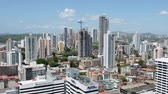 américa central : Panama City, Panama - march 2018: Modern cityscape aerial, skyscraper buildings and skyline of Panama City Stock Footage