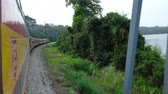 Panama Canal Railroad train driving from Panama City to Colon Stock Footage
