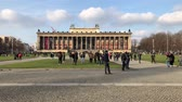 antyki : People on city square at Museum of Ancient Europe at Museum Island in Berlin, Germany.
