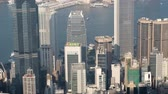 capitalisme : City skyline of Hong Kong, view from Victoria Peak