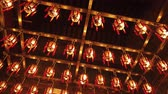 ofrenda : Inside Man Mo Temple in Hong Kong Archivo de Video