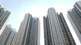 複雑な : skyscraper buildings, residential real estate, Hong Kong