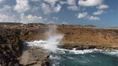 holandia : Blow hole on Curacao Wideo