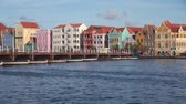 holandia : Pontoon bridge at Willemstad, Curacao Wideo