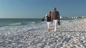 caminhada : Senior couple on a beach