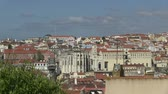 terremoto : Downtown Lisbon, Portugal Stock Footage