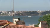 terremoto : Ferry on the river Tagus in Lisbon, Portugal Stock Footage