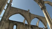 terremoto : The ruins of the Carmo Church in Lisbon, Portugal
