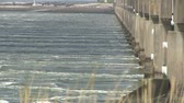 wydmy : The storm surge barrier Oosterschelde in The Netherlands