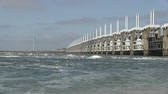 наводнение : The storm surge barrier Oosterschelde in The Netherlands