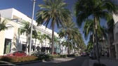 exclusivo : Rodeo Drive en Beverly Hills, California Archivo de Video