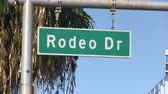 exclusivo : Signo de Rodeo Drive en Beverly Hills, California