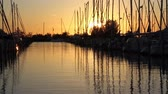stožár : Dutch marina at sunset