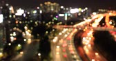 congestionamento : bokeh of traffic jam, city night