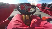 gokart : Kart by persons pilot Stock Footage