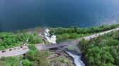 norueguês : Aerial footage of Svandalsfossen waterfalls in Norway, popular tourist attraction on Ryfylke national tourist road. Aerial 4k Ultra HD. Stock Footage
