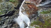 norueguês : Beautiful high waterfall in Norway on way to popular Trolltunga rock. Aerial 4k Ultra HD. Stock Footage