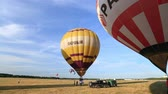 baloon : Festival of balloons, preparing to fly ups in the sky against a background of blue sky, competition, balloonists.