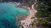 Beautiful beach aerial shot, Sithonia, Greece