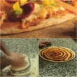 cheese sauce : Pizza chef is making pizza.