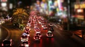 pecado : Traffic at night on the Las Vegas strip tilt shift