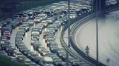 business : Time lapse of traffic jam on a highway Stock Footage