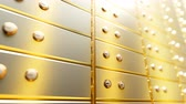skříňku : Golden safety deposit boxes in a bright bank vault room, infinite seamless loop