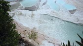 pamukkale : Travertines with turquoise water in Pamukkale.